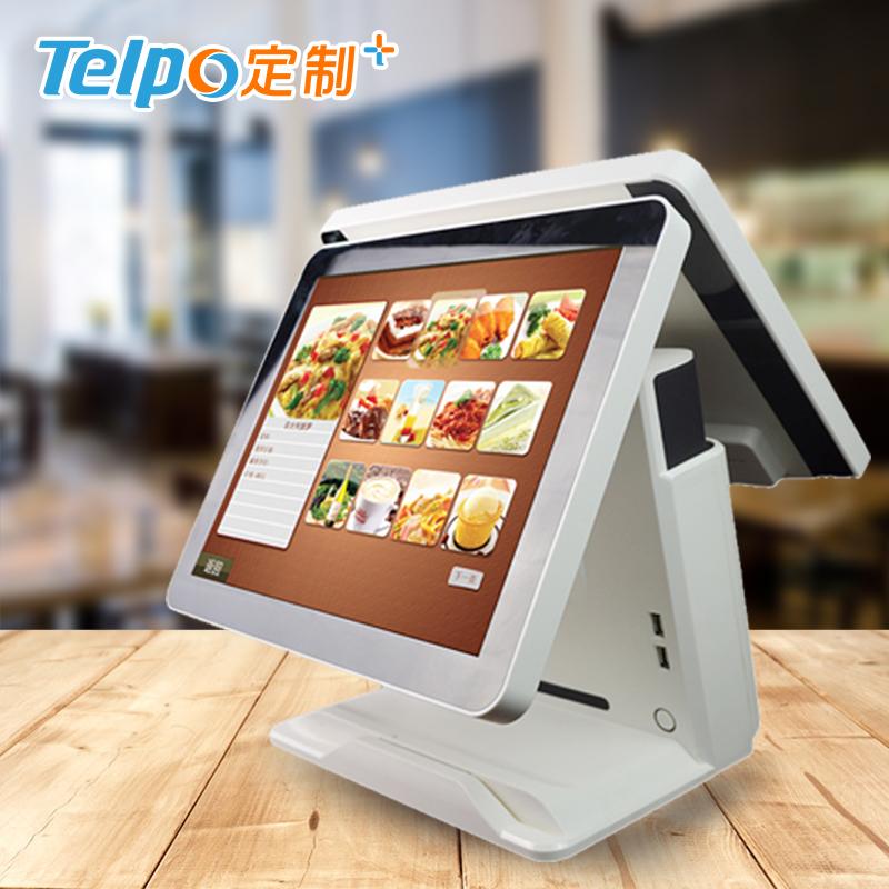 智能收银5.0 快餐店超市 性能稳定 双触屏智能收银机 TPS515