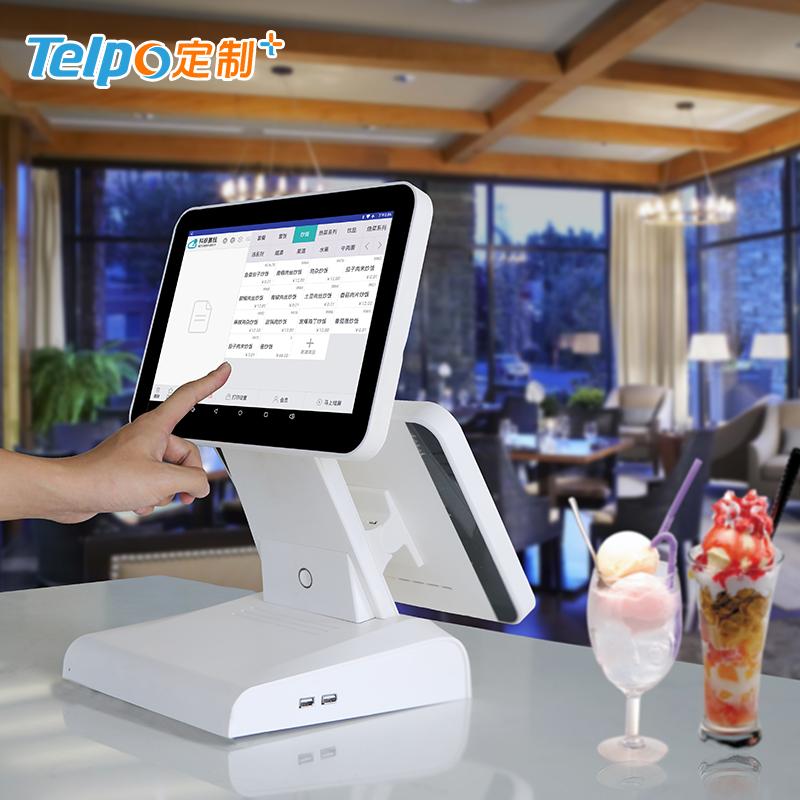 双屏收银机 15.6英寸触屏 安卓系统 智能收银5.0 收银一体机TPS615