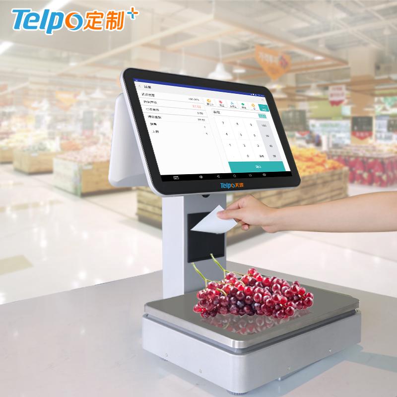 智能收银秤 称重收款 高速打印 双屏安卓电子秤 TPS655