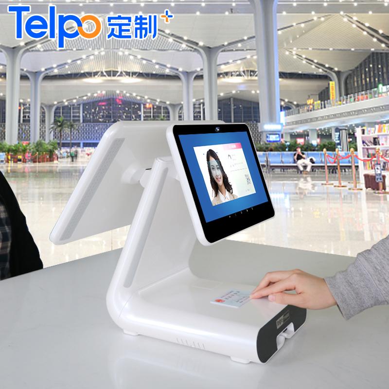 刷脸验票机 内置摄像头 小票打印 双屏人证比对验票终端 TPS650